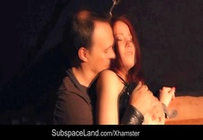 Redhead innocent sex slave hard punished by her Master