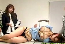 Japanese office girl humiliated and spanked