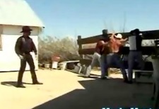 3 Cowboys Spank, Strip and Suck Outlaw