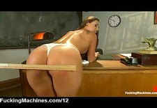 Nice ass babe ass spanked by machine