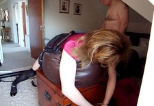 Elisabeth being caned