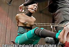 Beautiful Ebony Babe in Bondage