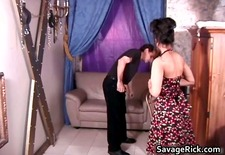 Sexy housewife Rosa is tied in ropes part4