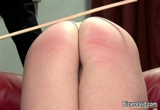 Nasty schoolgirl babe gets spanked hard