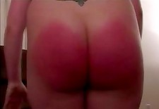 Fat ass spanked red