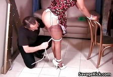 Sexy housewife Rosa is tied in ropes part3