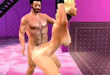 Spanking The Maid. 3dsexvilla2 animation