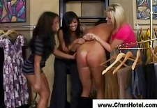 Cfnm ladies spanking in the wardrobe