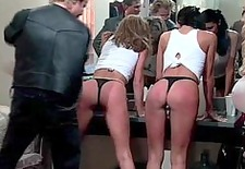 Wet T Shirt Models Spanked - Scene 4