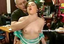 Teen slut caught masturbating in public