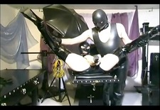 Master uses some toys on his slave girl