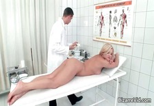 Hot blonde bitch comes to the doctor part5