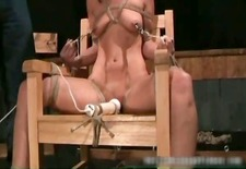 Bondage sex video with cute chick tied part4