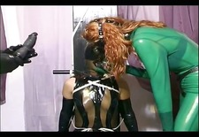 Horny couple punishes a slave girl