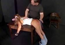 Whore with a decent rack spanked by her dominant