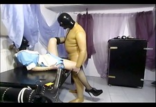 Mighty master pounding his slave girl