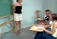 Naughty student gets ass spanked