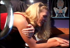 Cute blonde with a nice rack gets excited on being spanked