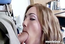 Schoolgirl rides teacher until he cums