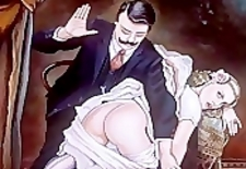 Bizarre and Erotic Female Spanking Artwork
