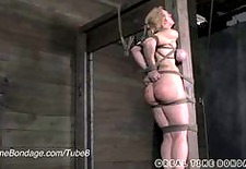 MILF Darling Caned, Whipped and Put into Tough Bondage!