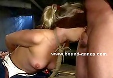 Big ass and boobs tied and abused