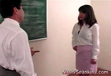 naughty coed gets spanking