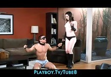 Naughty dominatrix Stoya punishes her new man