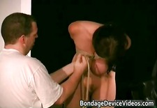Busty brunette babe is sex slave part6