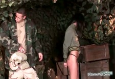 Two hot sexy horny army slut gets part5