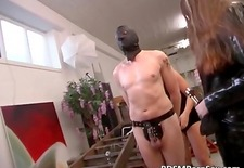 German BDSM play where two sluts spank