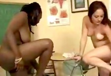 Woman gets spanked by redhead