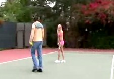 Sativa and her friend hardcored on hard court
