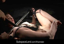 Chelsey Sun hard played in bdsm porn