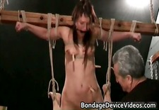 Bondage sex video with cute chick tied part1