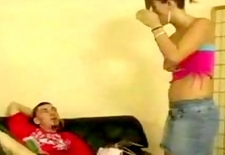 Girl gets panties pulled down and spanked by teacher