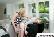 Piano teacher Tanya Tate spanks student