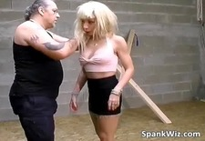 Hot looking sexy blonde gets her