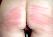 50 times Whipped on my red slutty Ass