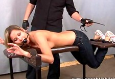 Ticklish Zoe Gagged tickle and spanked