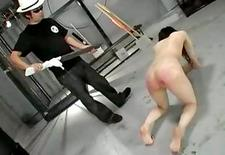 Japanese slave gets her ass whipped in this nasty BDSM clip