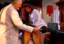 Blond slave spanking nurse training