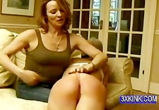 young sexy blonde hot spank