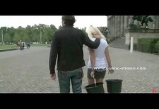 Blonde whore outdoor humiliation