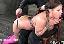 Mia Gold Gets Spanked in Bondage
