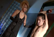 Kinky blonde using her slave - Dreamroom Productions