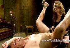 Dutch endures severe caning and OTK spanking