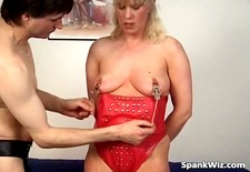 Incredible BDSM lesson for blonde MILF