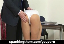 College babe spanked by principal