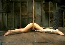 Delicate sexy asian babe meets brutality and violence in hard bondage video show